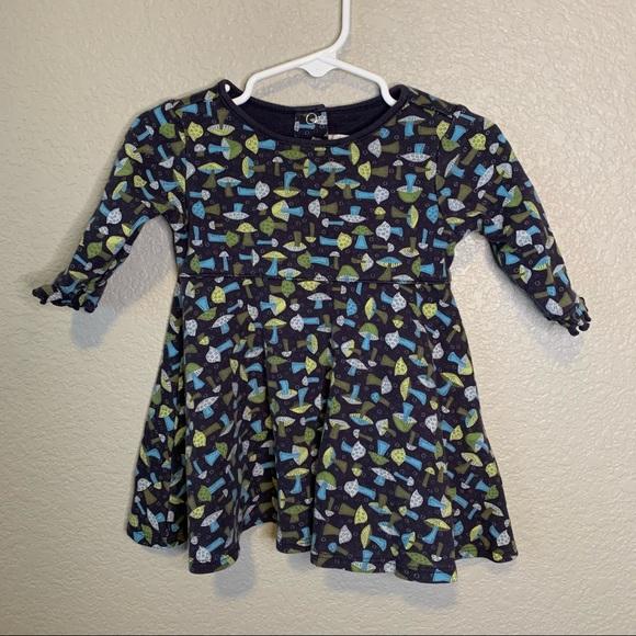 VTG Gymboree Mushroom Knit Dress Size 6-12 months